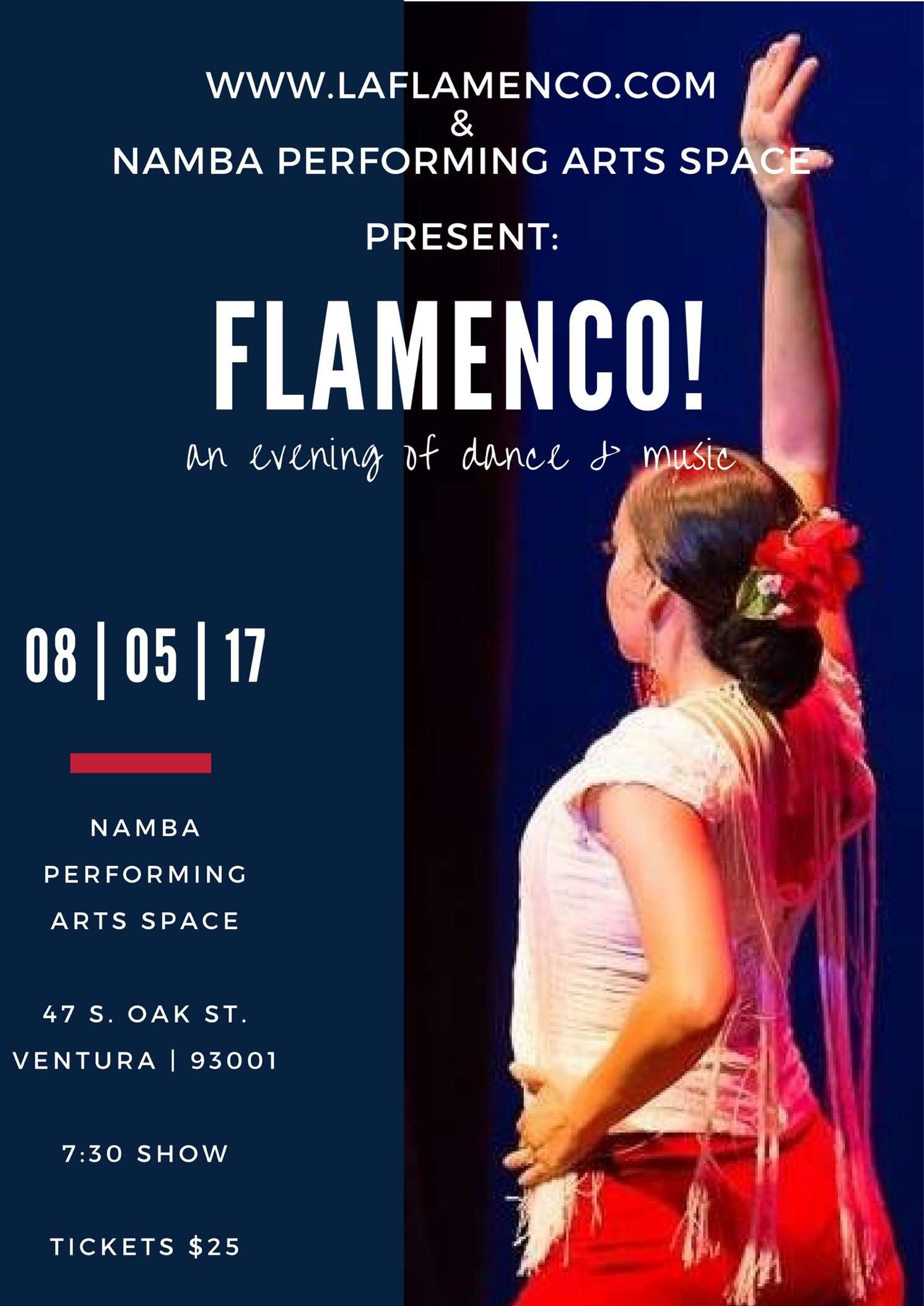 August 05, 2017: Flamenco…..An Evening of Dance & Music